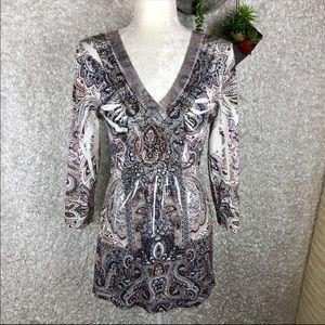 One World Embellished Tunic | L